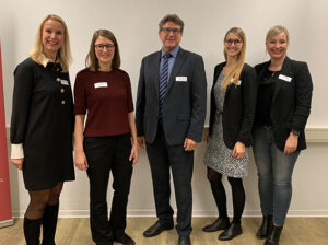 Gruppenbild: (v.l.n.r. Susanne Kayser-Dobiey, Saskia Roch, Hajo Thiesen, Jalina Maaßen, Mailin Schmelter), ©Susanne Kayser-Dobiey, WFG Rhein-Erft